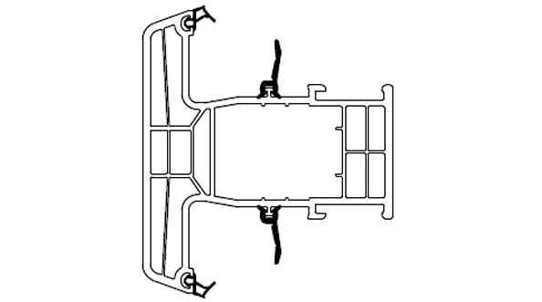 Profile okienne PVC, (kształtowniki), normatywny podział ze względu na funkcje