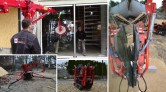 Rozładunek i transport ciężkich szyb zespolonych przy pomocy żurawia
