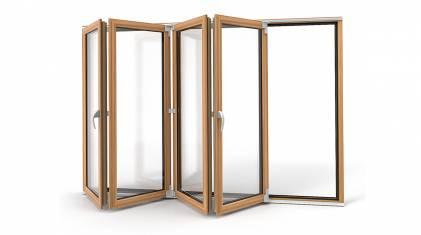 Drzwi harmonijkowe, jako wyjście na taras lub balkon
