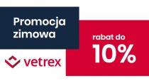 Promocja zimowa 2019/2020 Vetrex. Rabat do 10%.