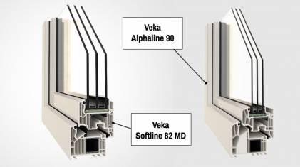 Okna Veka Softline 82, czy... Veka Alphaline 90. Porównanie.