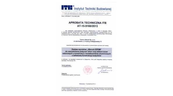 System uszczelnień okiennych Tremco-illbruck z aprobatą ITB
