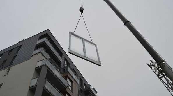 WINDMAR - wymiana przesuwnych drzwi balkonowych HKS na VI piętrze