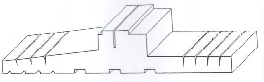 Podkład podparapetowy VETREX – schemat ze świadectwa rejestracji wzoru użytkowego nr 16424