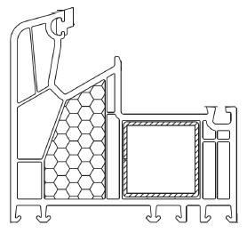 Rama ościeżnicy systemu Alphaline 90 z konstrukcyjną płetwą centralną