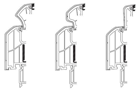 Internorm DIMENSION+ nakładki aluminiowen