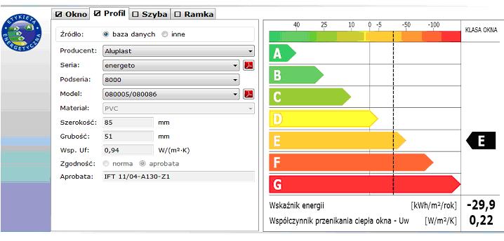 etykieta energetyczna dane o profilu