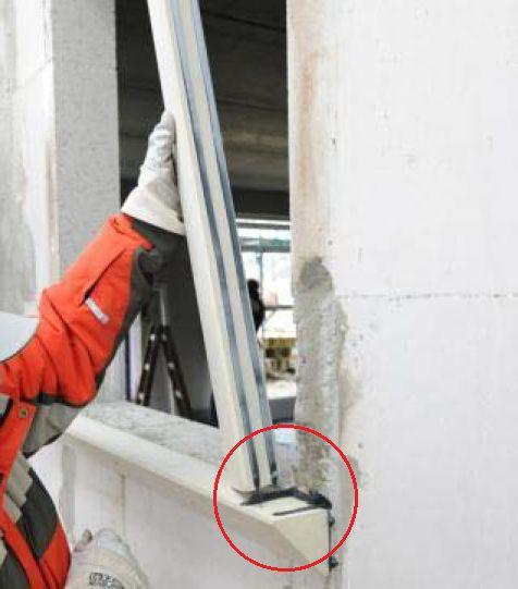 MOWO mocowanie elementu nośnego PR007 do boku muru ościeży