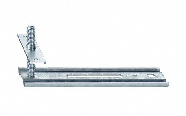Wspornik boczny JB-D, przeznaczony do mocowania ramiaków górnych i stojaków ościeżnic. Zakres regulacji położenia HV 40 mm. Wymiary maksymalnego wysunięcia AK 50mm, 100mm, 150mm
