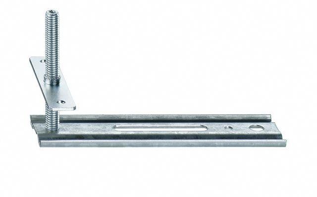 Wspornik boczny JB-D, przeznaczony do mocowania ramiaków górnych i stojaków ościeżnic. Zakres regulacji położenia HV 60 mm. Wymiary maksymalnego wysunięcia AK 50mm, 100mm, 150mm