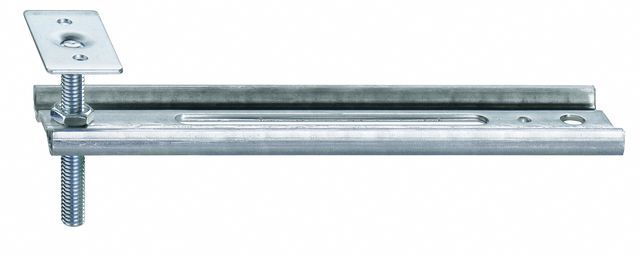 Konsola dolna JB-DK HVP, przeznaczona do mocowania ramiaków dolnych ościeżnic bez listwy progowej. Zakres regulacji położenia HV 30 mm. Wymiary maksymalnego wysunięcia AK 50mm, 100mm