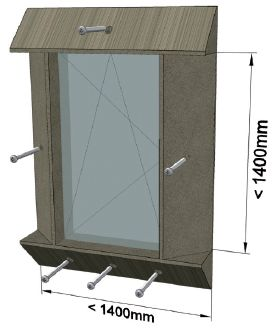 MOWO sposób mocowania elementów okno jednodzielne