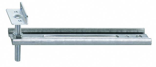 Konsola dolna JB-DK HVW, przeznaczona do mocowania ramiaków dolnych ościeżnic wyposażonych w listwy progowe. Zakres regulacji położenia HV 30 mm. Wymiary maksymalnego wysunięcia AK 50mm, 100mm
