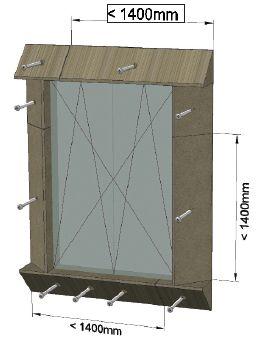 MOWO sposób mocowania elementów okno dwudzielne