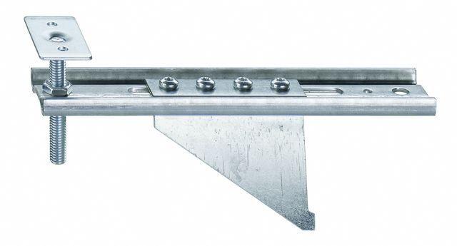 Konsola dolna JB-DK 100-AW75 HVP, przeznaczona do mocowania ramiaków dolnych ościeżnic bez listwy progowej. Zakres regulacji położenia HV 30 mm. Wymiary maksymalnego wysunięcia AK od 80mm do 100mm