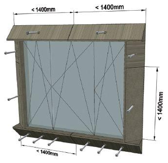 MOWO sposób mocowania elementów okno trójdzielne