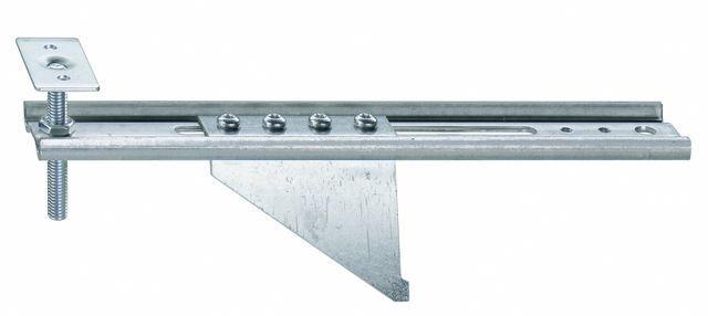 Konsola dolna JB-DK 150 AW75 HVP, przeznaczona do mocowania ramiaków dolnych ościeżnic bez listwy progowej. Zakres regulacji położenia HV 30 mm. Wymiary maksymalnego wysunięcia AK 150mm