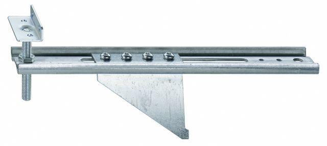 Konsola dolna JB-DK 150 AW75 HVW, przeznaczona do mocowania ramiaków dolnych ościeżnic wyposażonych w listwy progowe. Zakres regulacji położenia HV 30 mm. Wymiary maksymalnego wysunięcia AK 150mm