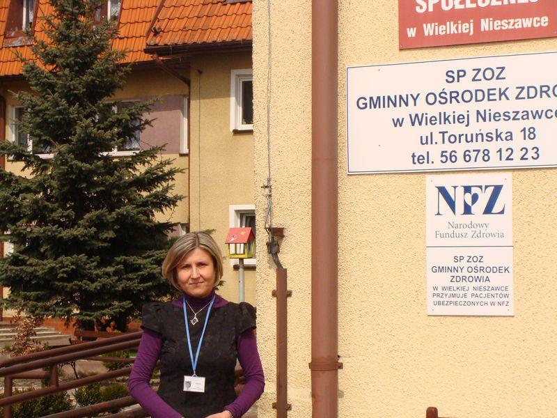 Pani Aneta Skorulska - dyrektorka DPS w Wielkiej Nieszawce