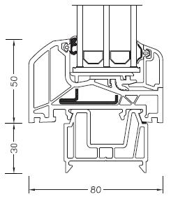 Internorm DIMENSION+ rama ościeżnicy 50mm