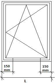 Konsola JB-DK punkty mocowania okno jednoskrzydłowe.