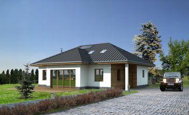 wizualizacja domu enegooszczędnego
