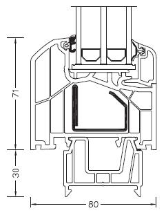 Internorm DIMENSION+ rama ościeżnicy 71mm