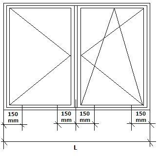 Konsola JB-DK punkty mocowania okno dwuskrzydłowe