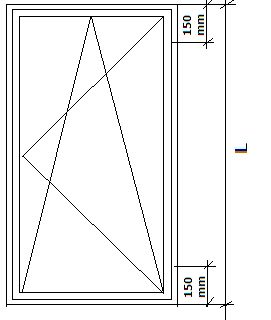 Wspornik boczny JB-DK punkty mocowania. Okno jednoskrzydłowe