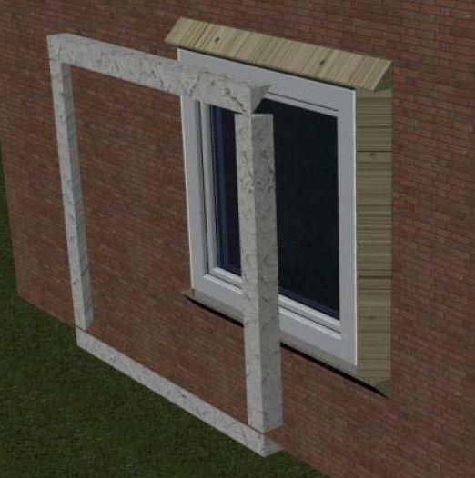 MOWO schemat ideowy systemu montażu okien w warstwie ocieplenia