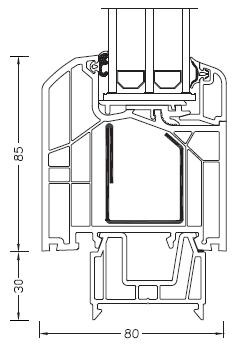 Internorm DIMENSION+ rama ościeżnicy 85mm