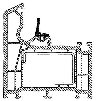 Rama ościeżnicy HP 222 systemu Brügmann z uszczelką centralną