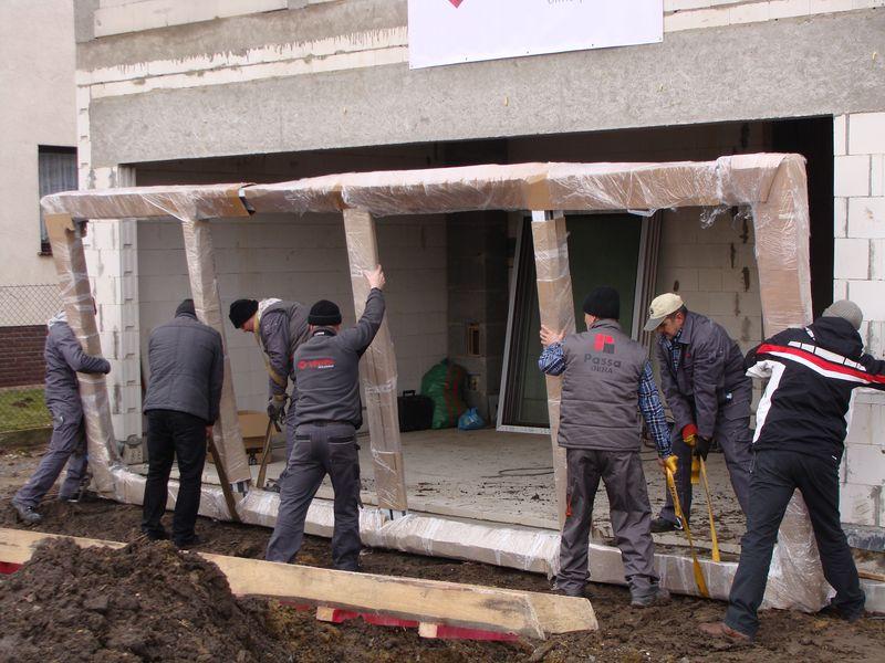 Drzwi balkonowe HST - pozycjonowanie w ościeży