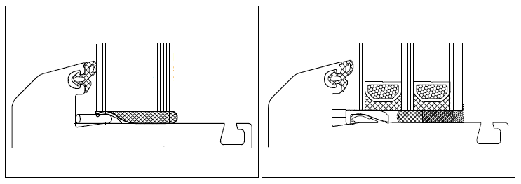 Technologia Bonding Inside. Wklejanie pakietów szyb zespolonych we wrąb szklenia skrzydła okiennego.
