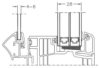 Okno DIMENSION 4 - układ 4 szyb