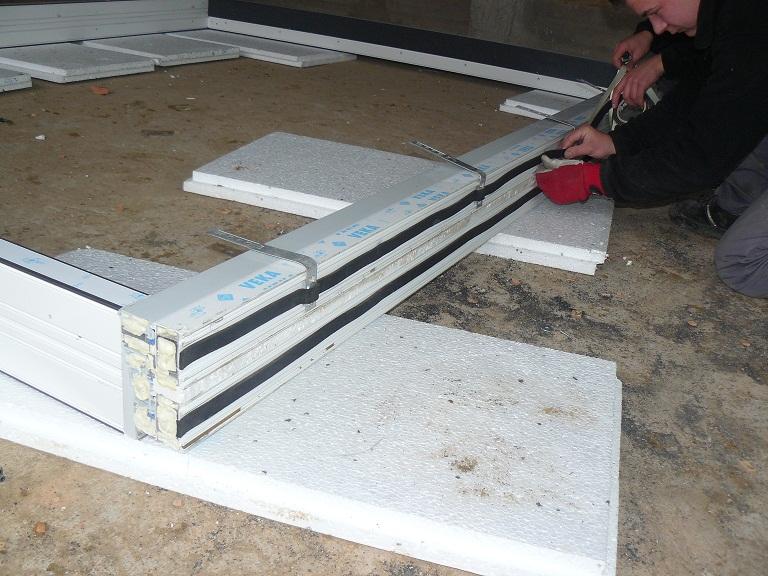 HST dodatkowe zewnętrzne uszczelnienie progu drzwi balkonowych