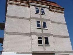 Ciepły parapet. Budynek mieszkalno-biurowy. Słupsk. Widok ogólny. Strona wschodnia.
