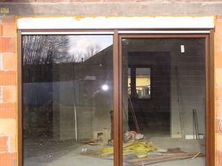 Drzwi balkonowe uchylno-przesuwne PSK z roletą nadstawną