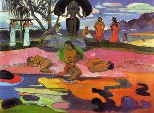 Paul Gauguin. Obraz Mahana no atua - Day of God