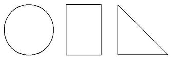koło, prostok?t, trójk?t. Figury geometryczne.