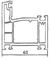 Ościeżnica 60mm, 3 komorowa