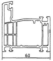 Ościeżnica 60mm, 5 komorowa
