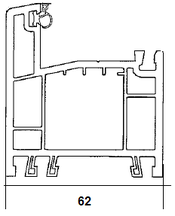 Ościeżnica 62mm, 3 komorowa