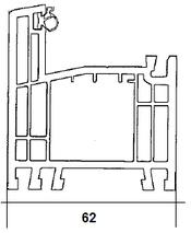 Ościeżnica 62mm, 5 komorowa