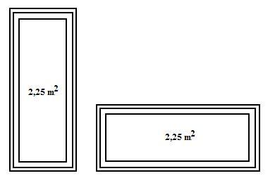 Przepuszczalność światła przez okna o tej samej powierzchni