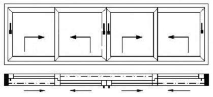 Drzwi HST. Drzwi unośno-przesuwne. Sposób otwierania.