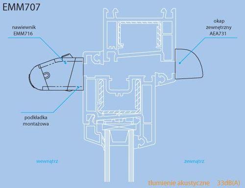 Aereco - nawiewnik EMM-707. Montaż.