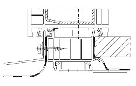 Schemat zabudowy okna z listwą progową