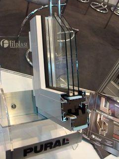 przekrój okna aluminiowego pural.