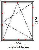 okno rehau geneo 1676mm szerokości na 1876mm wysokości